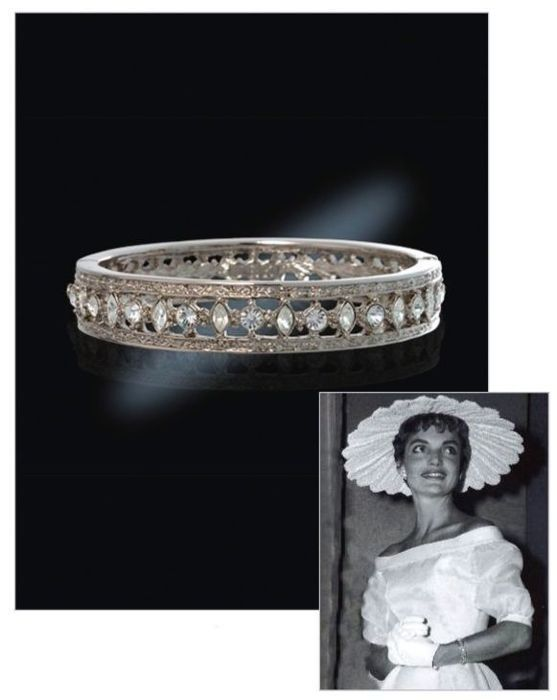 Silver plated - Bracelet by Camrose & Kross, exact replica of the by Cleef & Arpels