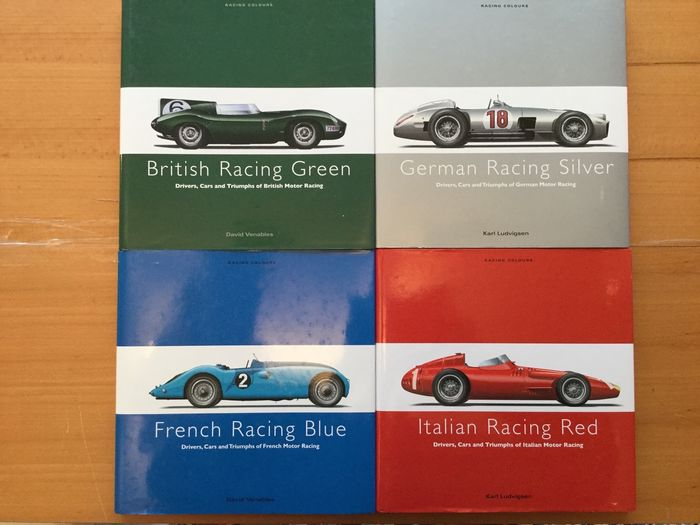 Livres - Racing Colors - British Green / French Blue / Italian Red / German Silver - 2008