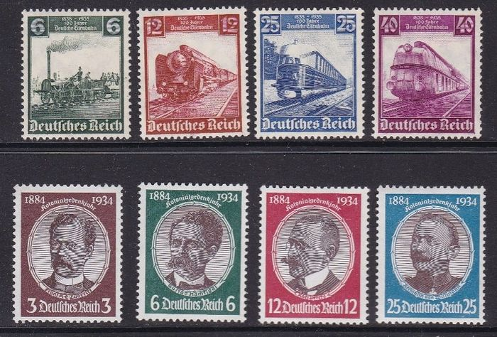 German Empire 1934/1935 - Complete set - MNH - - Yvert 499/502 y 539/542