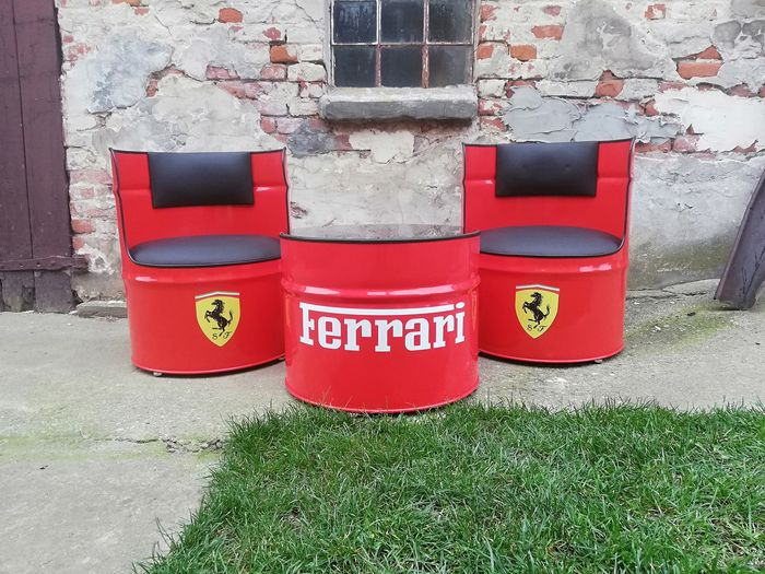 Furniture Ferrari Oil Barrel Chairs And Table 2019 2019 Catawiki
