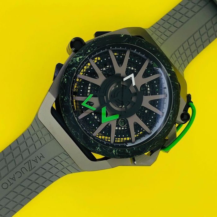 Mazzucato - RIM Reversible Monza Carbon Fiber Green Automatic and  Chronograph  - LIMITED EDITION - Homme - brand new