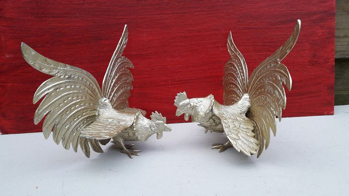 Bird, Set - Bronze (gilt/silvered/patinated/cold painted)