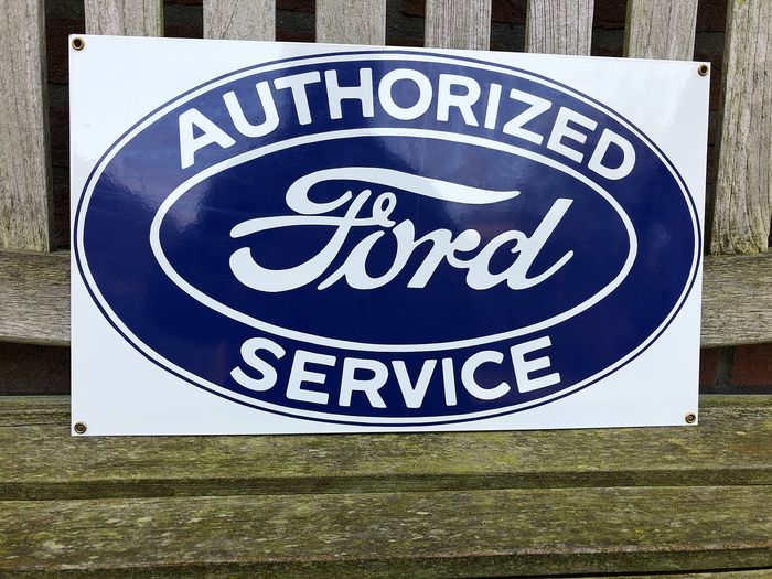 Reclamebord - Ford Authorized Service. - Ande Rooney, USA - 1988