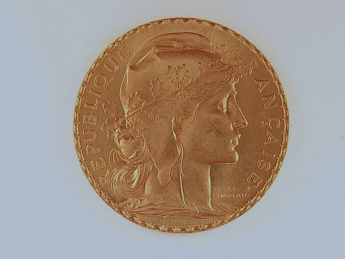 20 Francs 1914 - Marianne Coq  - Or