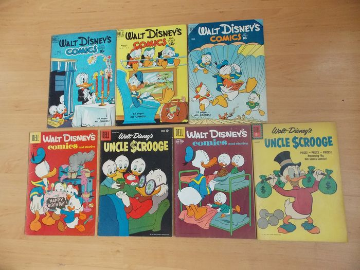 Dell Comics - 7 Walt Disney's Comics & Stories - Stapled - First edition - (1950/1961)