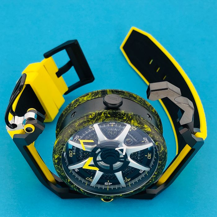 Mazzucato - RIM Reversible Monza Carbon Fiber Yellow Automatic and  Chronograph  - LIMITED EDITION - Herren - brand new