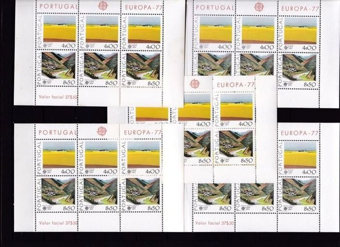 Portugal 1976/2003 - Portugal - Azores & Madeira - Collection of stamps and sheet