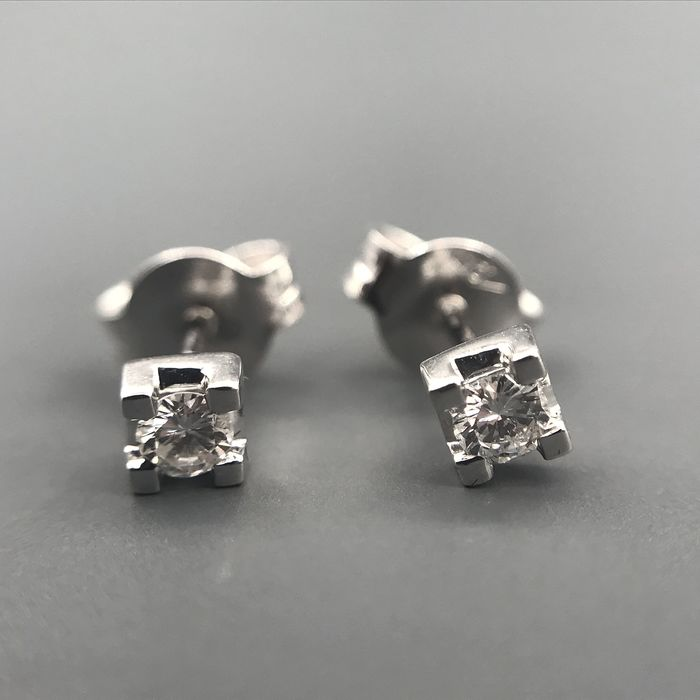 Basili - 18 kt. White gold - Earrings - Diamonds