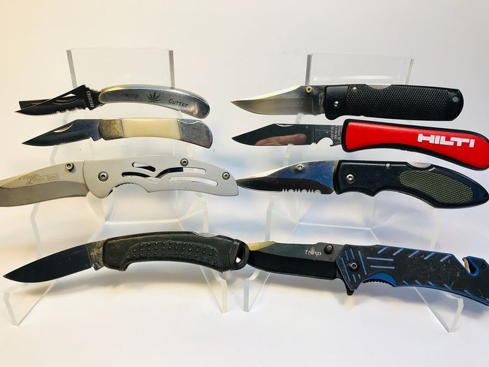 Nice lot 8x  - Hunting - Nice Collection - Different styles Pocket - Knife