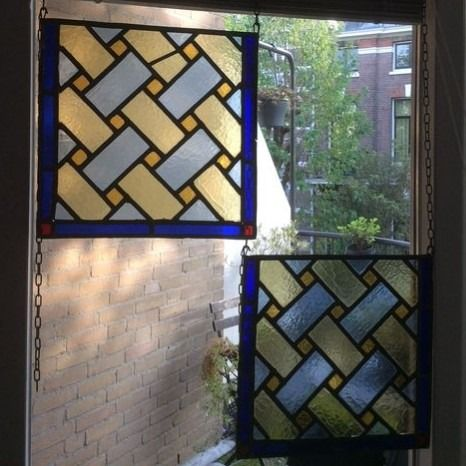 Window, with geometric patterns (2) - Stained glass