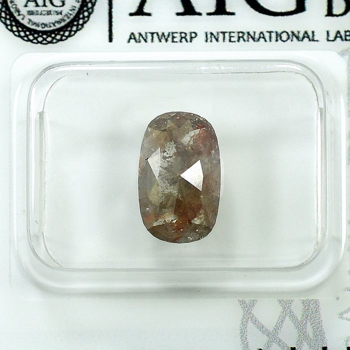 Diamond - 1.45 ct - Oval - Natural Brownish Grey - I3 - NO RESERVE PRICE