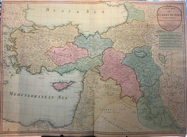 Middle East, Cipro, Terra Santa; Laurie and Whittle - A New Map of Turkey in Asia by Monsr. D'Anville First Geographer to the most Christian King with Sev - 1781-1800