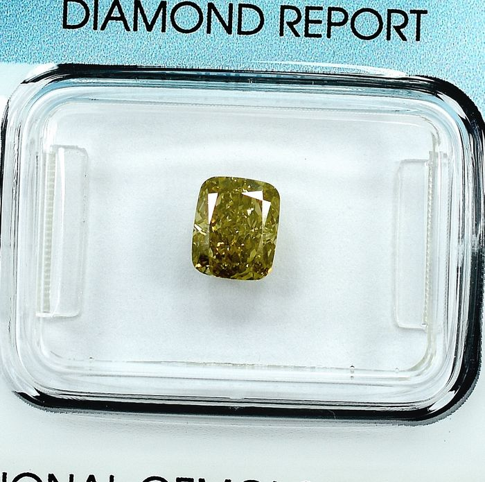 Diamond - 0.95 ct - Cushion - VS2 - NO RESERVE PRICE