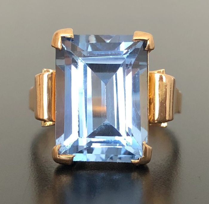 18 kt. Pink gold - Ring - 9.30 ct Sapphire Verneuil