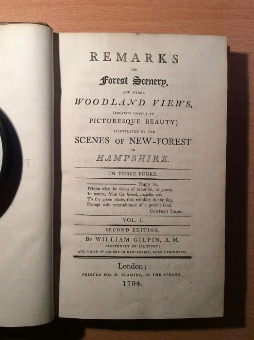 William Gilpin - Remarks on Forest Scenery and Other Woodland Views - 1794