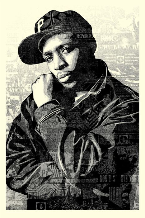 Shepard Fairey (OBEY) - Chuck D Black Steel - Large Format