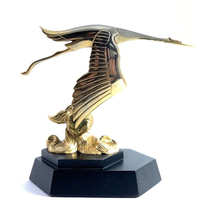 Emblem / mascot - Hispano Suiza Hood Ornament by Franklin Mint 22 carat gold plated - Hispano Suiza - 1987