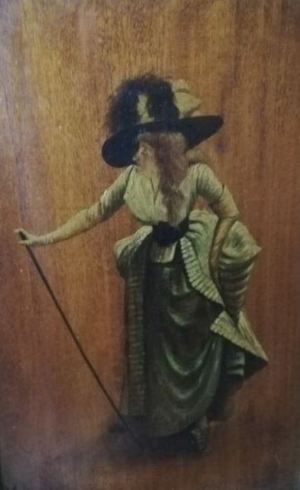 Anonimo - Donna in costume francese