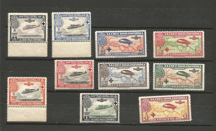 Spain 1926 - Pro Spanish Red Cross set - Edifil 339/348