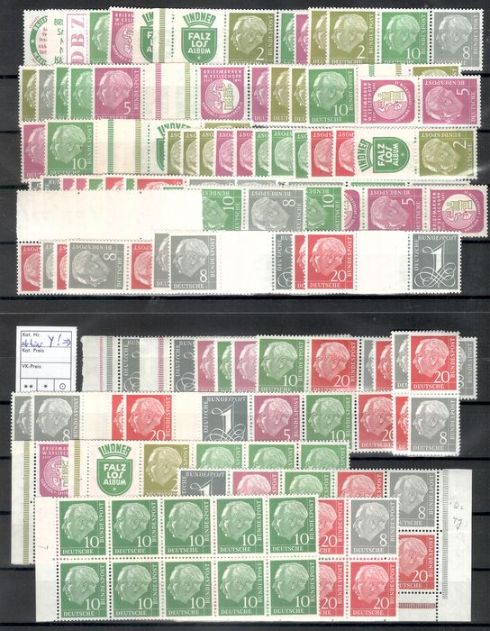 "Germany, Federal Republic 1955/1960 - ""Heuss"" collection of se-tenants"