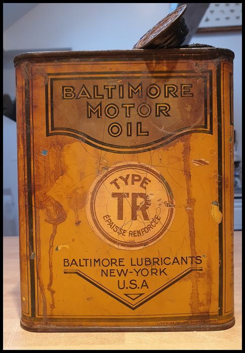 Oil can - Baltimore Motor Oil - 1915-1915