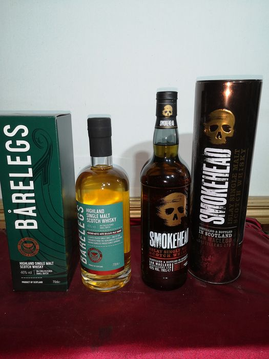 Barelegs Highland Single Malt & Smokehead Islay Single Malt - 0.7 Ltr - 2 bottles