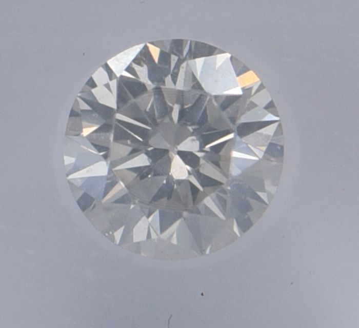 1 pcs Diamant - 0.50 ct - Rond - I - SI2, No Reserve Price!