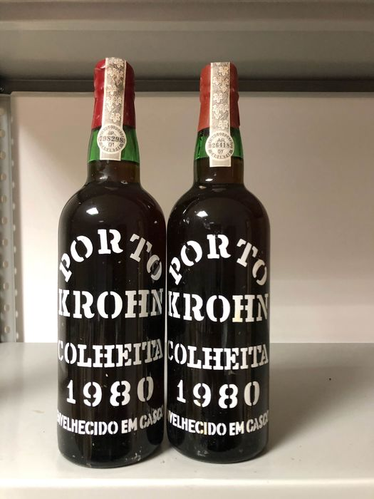1980 Krohn  Colheita Port - 2 Botellas (0,75 L)