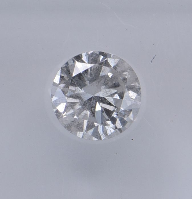 1 pcs Diamant - 0.51 ct - Rund - G - SI2, No Reserve Price!