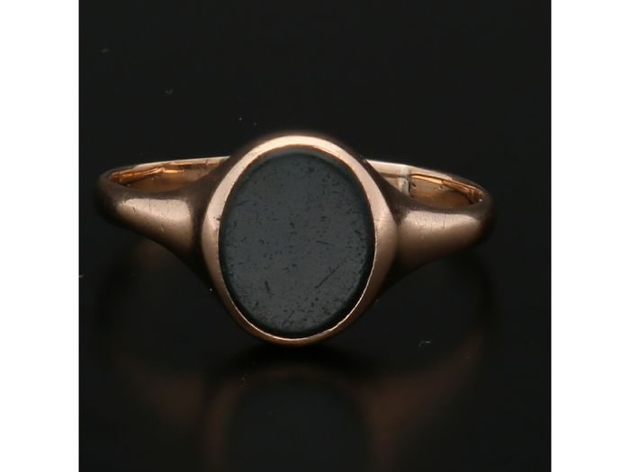 14 kt. Gold - Ring Onyx