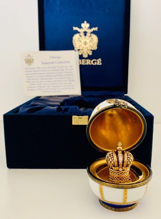 Fabergé - Faberge Imperial Collection - The Imperial Crown Egg - Fully hallmarked, 24 carat gold plated, Serial Number 0062°