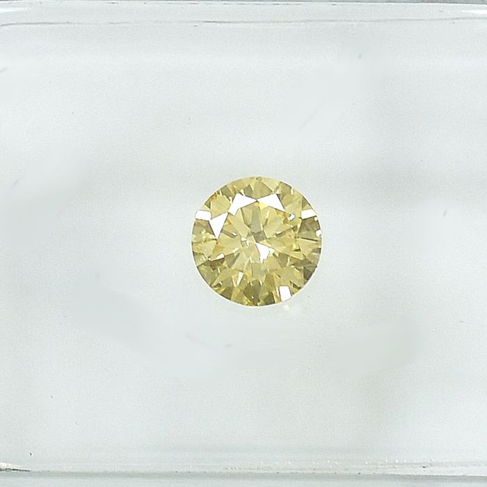 Diamond - 0.33 ct - Brilliant - Natural Fancy Yellow - Si1 - EXC/VG/VG