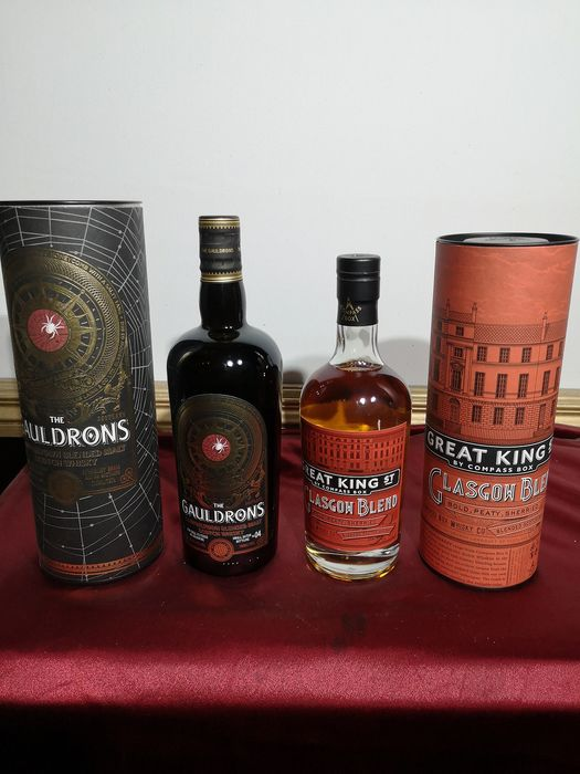 The Gauldrons (Douglas Laing) & Great King Street Glasgow Blend (Compass Box) - 70cl & 50cl - 2 botellas
