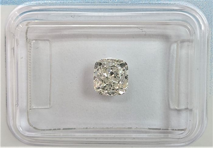 Diamant - 1.01 ct - Coussin - K - SI2, IGI Antwerp - No Reserve Price
