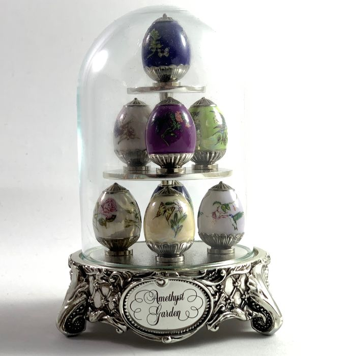 House of Faberge - De Amethist Tuin - .925 zilver, Emaille, Porselein