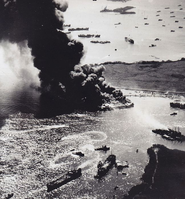 Unknown/ UPI - 'Pearl Harbor's Second Inferno'
