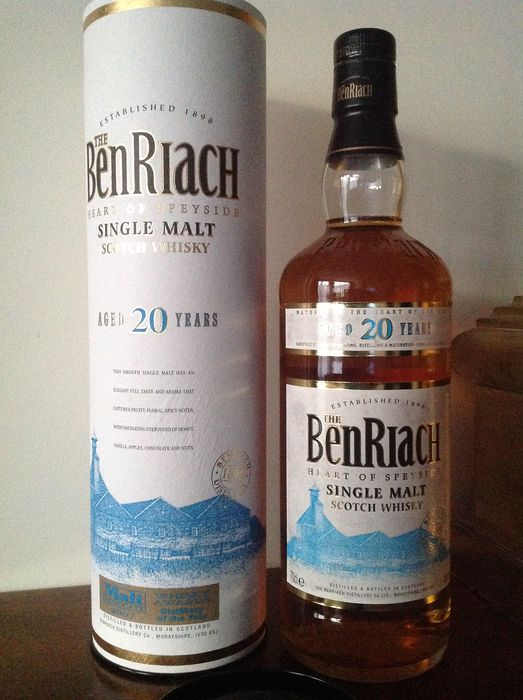 Benriach 20 years old - Original bottling - 70 cl