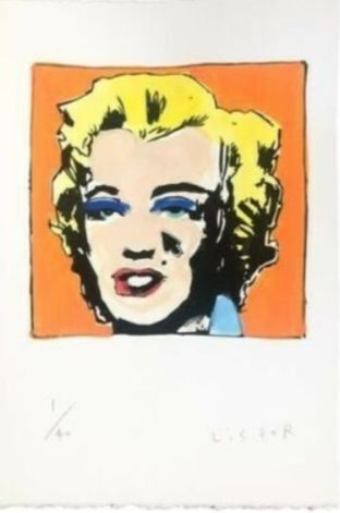 Anthony Lister - Marilyn Screen Print (ORANGE)