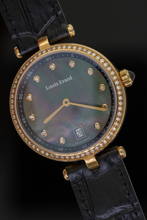 Louis Erard - 77 Diamonds for 0,39 Carat Romance Collection  Mother of Pearl Dial  2 Tone Rose Gold Swiss Made - 11810PS29.BRCB5 - Femme - BRAND NEW