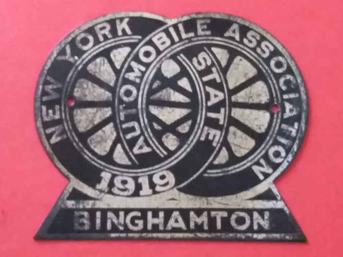 Insigne - Vintage Badge New York Automobile Association Binghamton 1919 - 1919-1919