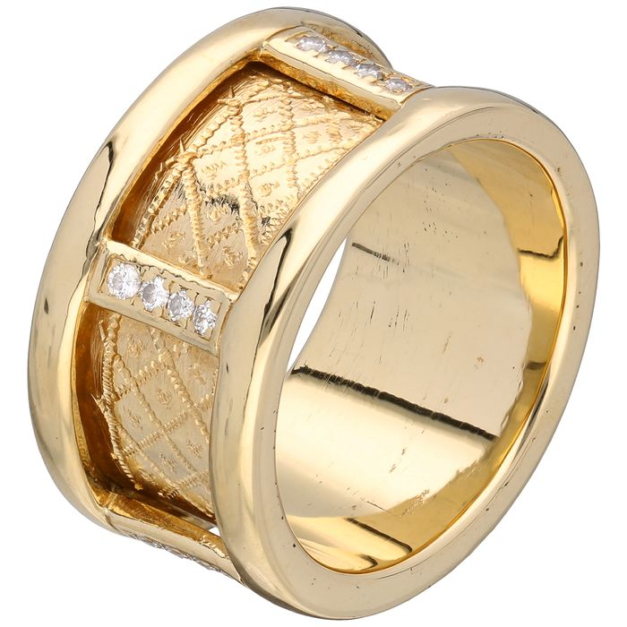 18 kt. Gold - Ring - 0.20 ct Diamond