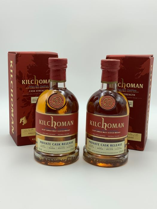 Kilchoman 2006 Single Cask Private Bottling No's 83 & 84 of 227 - 700ml - 2 bottles