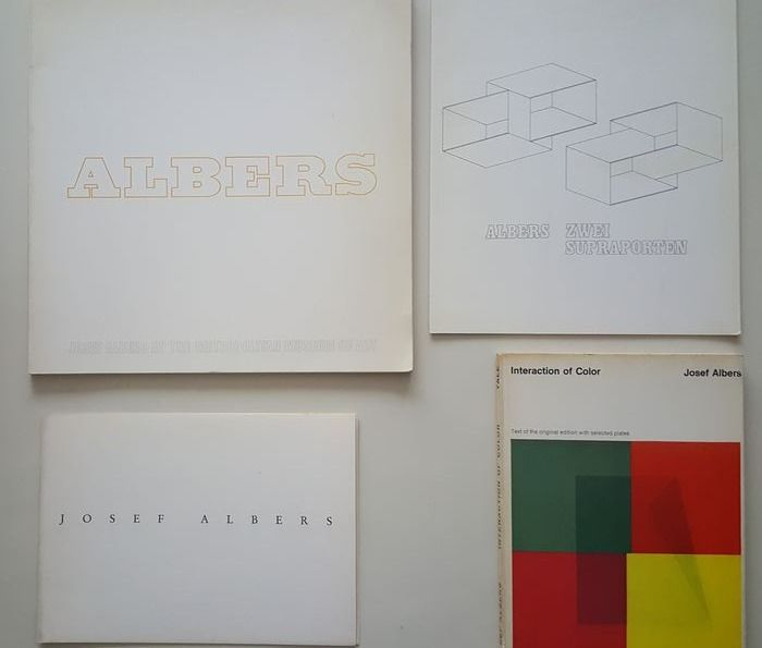 Josef Albers - lot with 3 catalogues & one exhibition announcement - 1965/1973