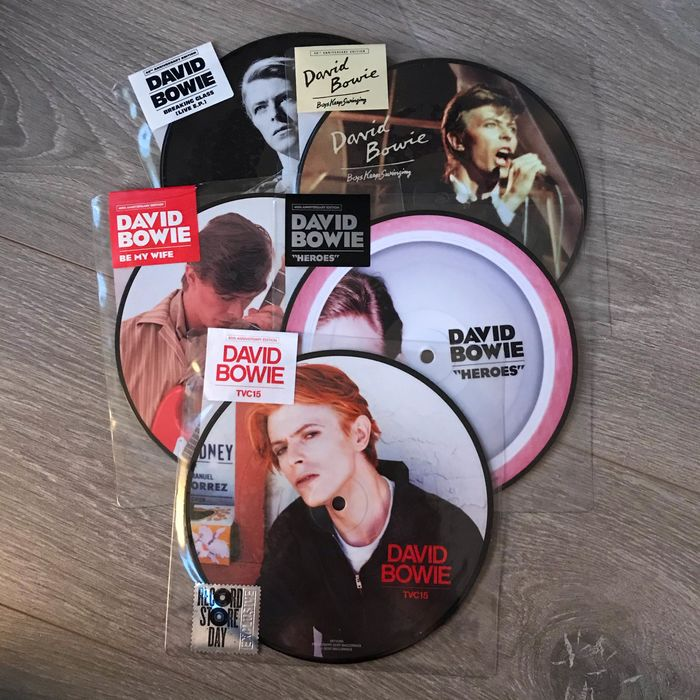 David Bowie - 'Heroes' + 4 more Picture Discs  - Différents titres - Picture Disk Limited Edition - 2016/2019