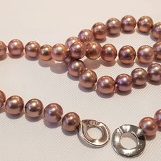 NO RESERVE PRICE - 925 Silver - 11x13mm Beautiful Colour Edison Pearls - Necklace