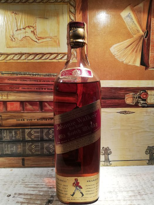 Johnnie Walker Red Label with cork stopper - b. 1960s - 75cl