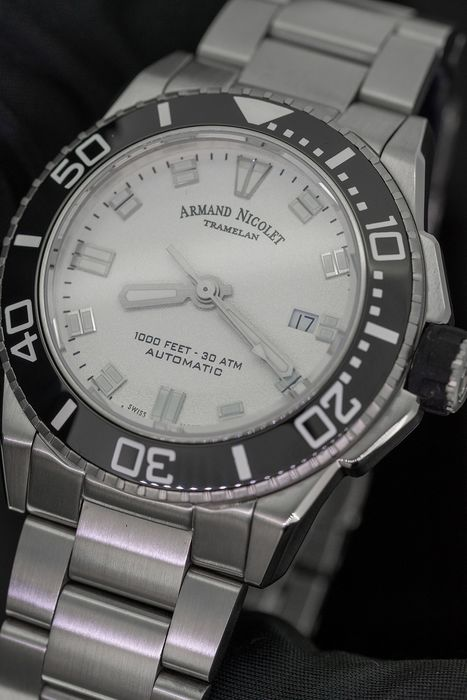Armand Nicolet - JS9 Diver Automatic Stainless Steel WR 300M Swiss Made - A480AGN-AG-MA4480 - Herren - Brand New