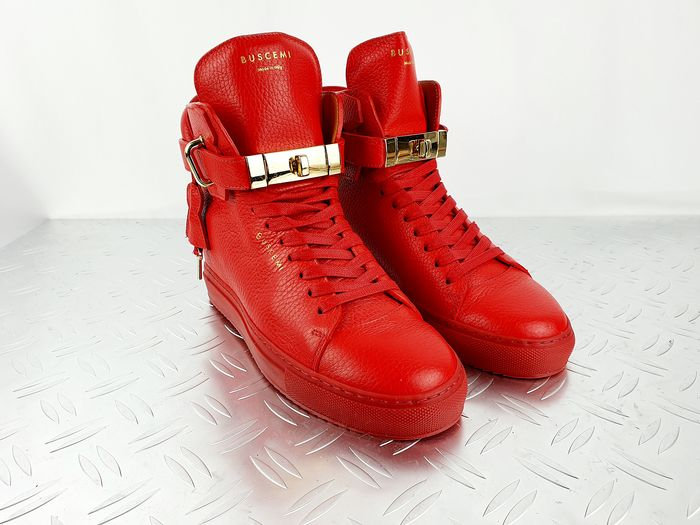 Buscemi - Embellished patent-leather high-top sneakers - Size: 37