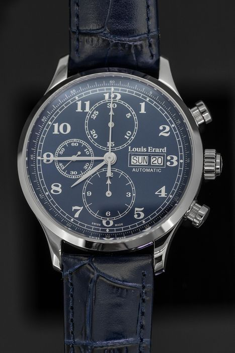 Louis Erard - Automatic Chronograph Watch 1931 Blue - 78225AA25.BDC37 - Homem - BRAND NEW