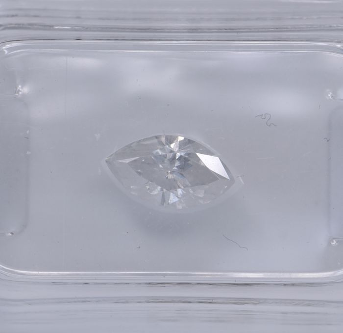 1 pcs Diamante - 0.72 ct - Marquise - E - SI3, No Reserve Price!